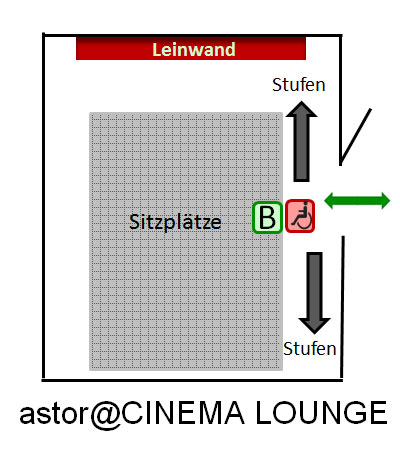 astor@CINEMA LOUNGE Platz Plan