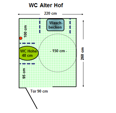 WC Alter Hof Plan