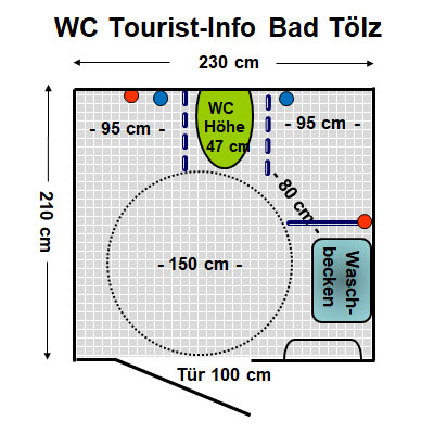 WC Tourist Info, Bad Tölz Plan