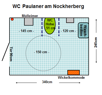 WC Paulaner am Nockherberg Plan